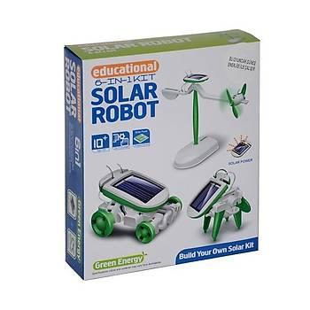 6 ÝN 1 SOLAR ROBOT - GÜNEÞ ENERJÝLÝ DENEY SETÝ