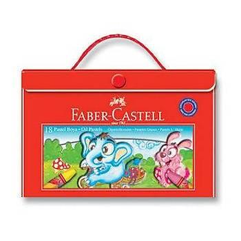 FABER CASTELL ÇANTALI 18'LÝ PASTEL BOYA