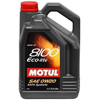 MOTUL 8100 ECO-LITE 0W/20 / 5 Litre