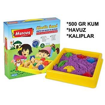 Kinetik Kum, 500 Gr, Oyun Havuzu, Oyun Kalýplarý, Renk Seçenekli, Küçük Boy