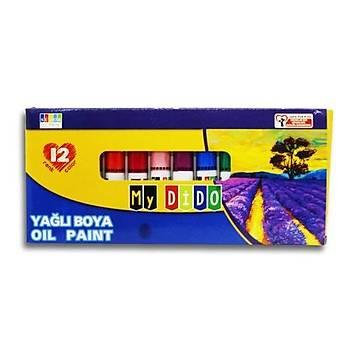 Südor, Mydido, Yaðlý Boya, 12 li Paket, Tuval Boyasý, 9 ml, Tüplü Set, Sanatsal Boya