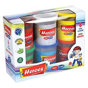Heroes, 6 Renk, Oyun Hamuru, Büyük Oyun Hamuru, Kaliteli, Eðitici, El-Göz Koordinasyonu