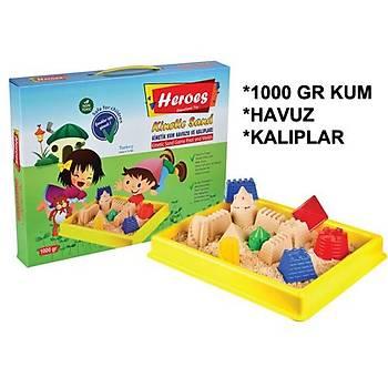 Kinetik Kum, 1 Kg, Oyun Havuzu, Oyun Kalýplarý, Renk Seçenekli,  Büyük Boy