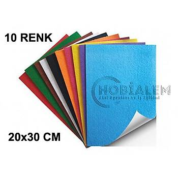 10 Renk, Yapýþkanlý Keçe, A4 Boyutunda, Hobi, Okul, El Ýþi Keçesi, Süsleme, Kumaþ Keçe
