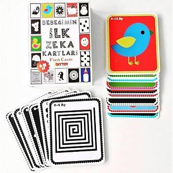 Diytoy, Bebeðimin Ýlk Zeka Kartlarý, Eðitici Flash Cards, 0-12 Ay