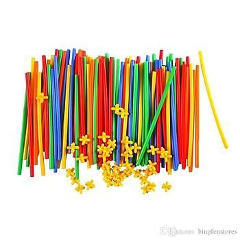 Mortoys, 300 Parça, Pratik Çubuklar, Bambu Çubuklar Kes Birleþtir, Eðitici Çubuklar