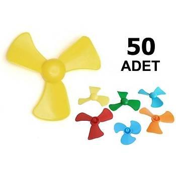 50 Adet, Mini Pervane, Deney Pervanesi, Eðitici Motor Deneyi Ýçin, Ýþ Eðitimi Malzemesi