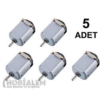 5 Adet, Deney Motoru, Dc Motor, Mini Motor, Elektrik Motoru