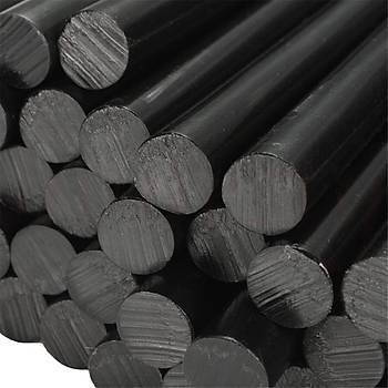 20 Adet, Siyah Ýnce Silikon, 7 mm, Sýcak Mum Silikon, 1.Kalite, Sýcak Yapýþtýrýcý