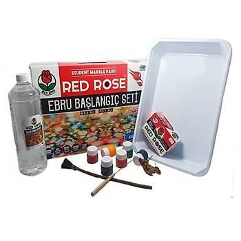 Red Rose, Ebru Baþlangýç Seti, Hazýr Ebru Seti,6 Renk Ebru Boyasý