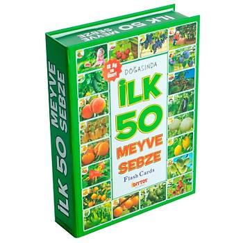 Diytoy, Ýlk 50 Meyve ve Sebze, Zeka Kartlarý,  Eðitici Kartlar,  Flash Cards