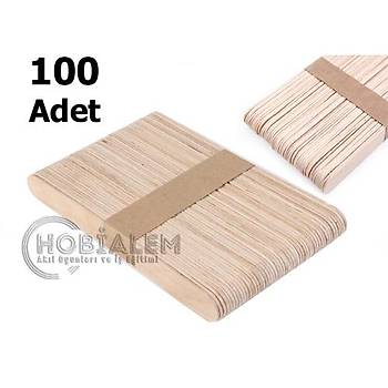 100 Adet, Dil Çubuðu, Ahþap Dondurma Çubuðu, Geniþ Doktor Çubuðu, Abeslang, Maket Çubuðu