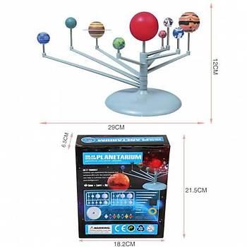 Güneþ Sistemi Modeli, Gezegen Sistemi, Boya, Fýrça, Eðitici Maket, Deney Seti, Plastik