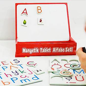 Diytoy Manyetik Tablet Alfabe Seti, Magnet Rakamlar, Yazý Tahtasý, Mýknatýslý Harfler
