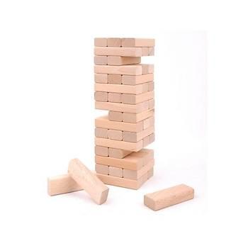 54 Parça, Jenga, Büyük Boy, Doðal, Denge Oyunu, Ahþap, Kule Oyunu, Eðlenceli Aile Oyunu
