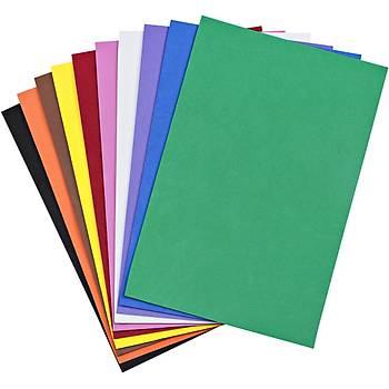10 Renk, Yapýþkanlý Eva, A4 Boyunda, Hobi, Okul, El Ýþi Ýçin Eva, Süsleme ve Etkinlik Malzemesi