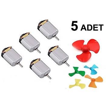 5 Adet, Motor ve Pervane, Deney Seti, Eðitici Mini Motor Devresi, Elektrik Motoru
