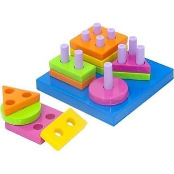Kiki, Bebeðimin Ýlk Oyuncaklarý, 4  lü Set, Bultak, Kule Oyunu,  Geometrik Þekiller, Sevimli Halkalar
