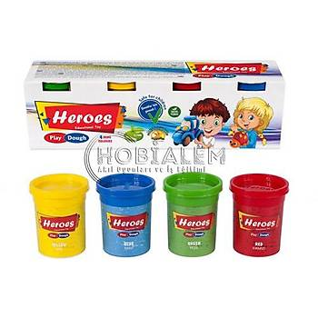 Heroes, Oyun Hamuru, 4 Renk, Büyük Oyun Hamuru, Hýzlý Kargo