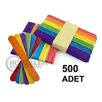 500 Adet, Renkli Dil Çubuðu, Dondurma Çubuðu, Geniþ Doktor Çubuðu, Abeslang, Maket Çubuðu