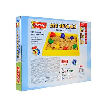 Heroes, Kinetik Kum, Büyük Oyun Havuzu, 4 Renk 1 Kg, Hayvan Kalýp, Oyun Kumu