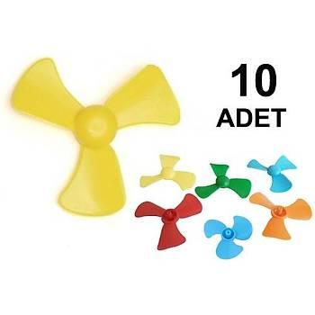 10 Adet, Mini Pervane, Deney Pervanesi, Eðitici Motor Deneyi Ýçin, Ýþ Eðitimi Malzemesi