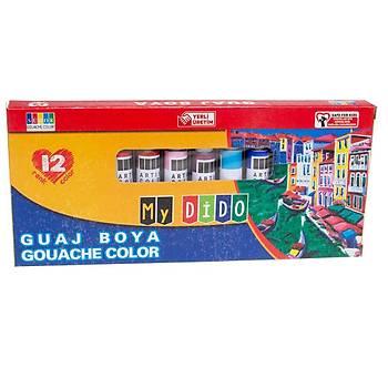 Südor, Mydido, Guaj Boya, 12 li Paket, 9 ml, MY54, Tüp Guaj Boya, Sanatsal Boya