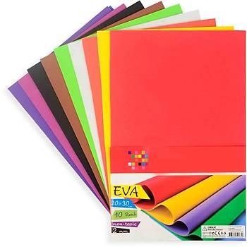 10 Renk, Eva, A4 Boyutunda, Hobi, Okul, El Ýþi Ýçin Eva, Süsleme ve Etkinlik Malzemesi