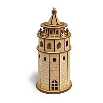 Ahþap Galata Kulesi Maketi, Boyanabilir, Ahþap Maket, 3D Maket,  Ahþap Puzzle