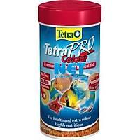 Tetra Pro Colour Crisps 250 ML Skt:03/2023 Orjinal Kutusunda Balýk Yemi