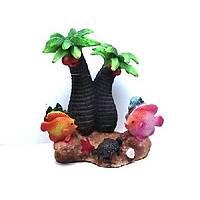 Akvaryum Dekoru Palmiye Çarklý  10x5,5x13x5 cm Ölçülerinde