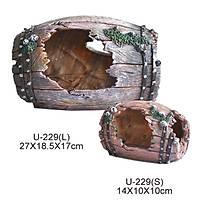 King Akvaryum Dekoru Kýrýk Fýçý Large 27 X 18.5 X 17 cm