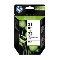 HP 21 + 22 SD367AE Ýkili Paket Siyah ve Renkli Orjinal Kartuþ Set