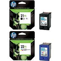HP 21XL + 22XL C9351CE + C9352CE Siyah Renkli Orjinal Kartuþ Seti