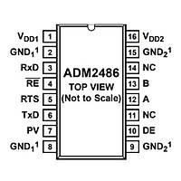 ADM2486BRWZ Smd Dijital Ýzolatör Entegresi Soic16