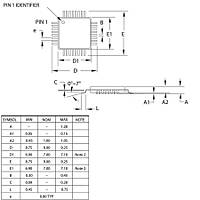 ATMEGA48PA-AU SMD 8-Bit 20 MHz Mikrodenetleyici TQFP-32