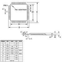 ATMEGA64A-AU SMD 8 bit 16MHz Mikrodenetleyici TQFP-64