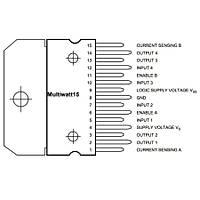 L298N Çift Tam Köprü Sürücü Entegresi Multiwatt15