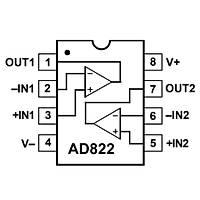AD822A Smd OpAmp Entegresi Soic-8