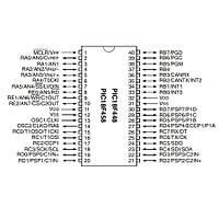 PIC18F458 I/P 8-Bit 40MHz Mikrodenetleyici Pdip-40