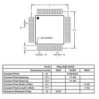 PIC24FJ256GB106 I/PT SMD 16-Bit 32MHz Mikrodenetleyici TQFP-64