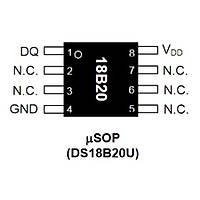 DS18B20U Smd Dijital Sýcaklýk Sensörü Usop8