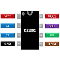 DS1302 RTC Gerçek Zaman Entegresi Dip-8