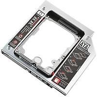 Upjaks 9.5mm HDD Caddy Laptop DVD to SSD Kutu Sata - Çelik Kasa