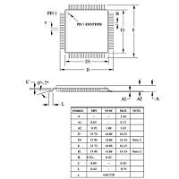 ATMEGA128A-AU SMD 8-Bit 16MHz Mikrodenetleyici TQFP-64