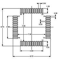 STM32F030C6T6TR 32Bit 48MHz Mikrodenetleyici LQFP-48