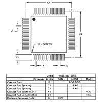 PIC24FJ192GB106 I/PT SMD 16-Bit 32MHz Mikrodenetleyici TQFP-64