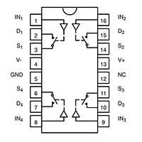 DG308BDY CMOS Analog Anahtarlama Entegresi Soic-16