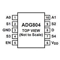 ADG804YRMZ Smd Switch Entegresi Msop10
