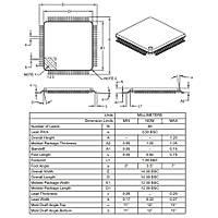 PIC18F87J10 I/PT SMD 8-Bit 40MHz Mikrodenetleyici TQFP-80